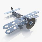 Samolot z zestawu metalowego 3d model