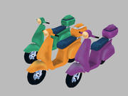 オートバイ 3d model