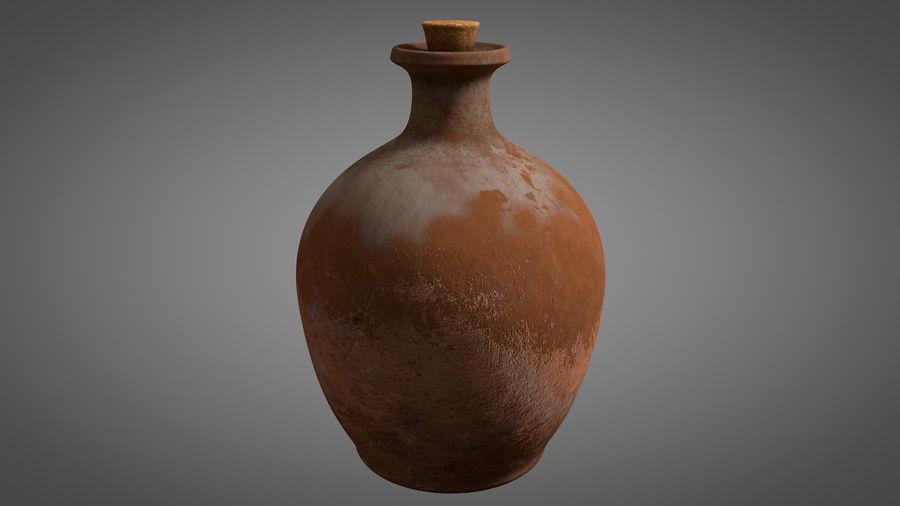 Old Wine ceramic bottle vase royalty-free 3d model - Preview no. 1