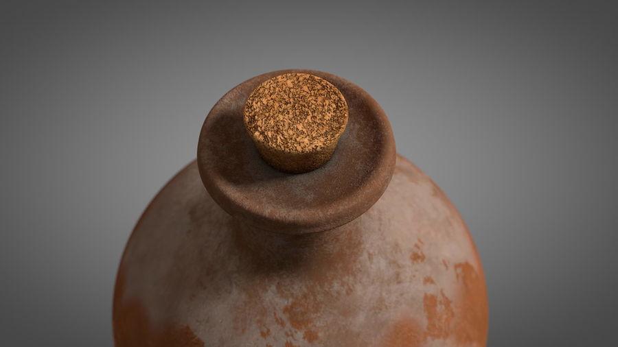 Old Wine ceramic bottle vase royalty-free 3d model - Preview no. 2
