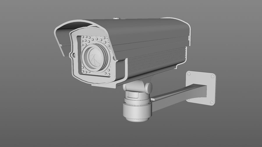 Security Camera royalty-free 3d model - Preview no. 4