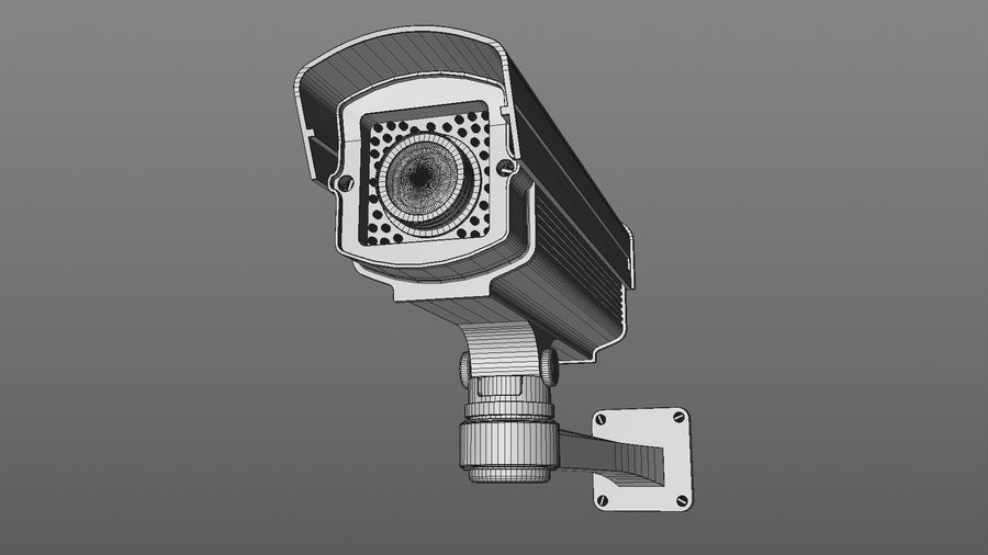 Security Camera royalty-free 3d model - Preview no. 7