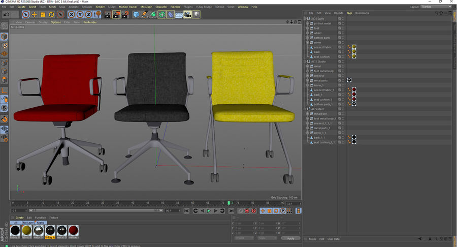 AC 5 Chair Studio - Meet - Swift royalty-free 3d model - Preview no. 17
