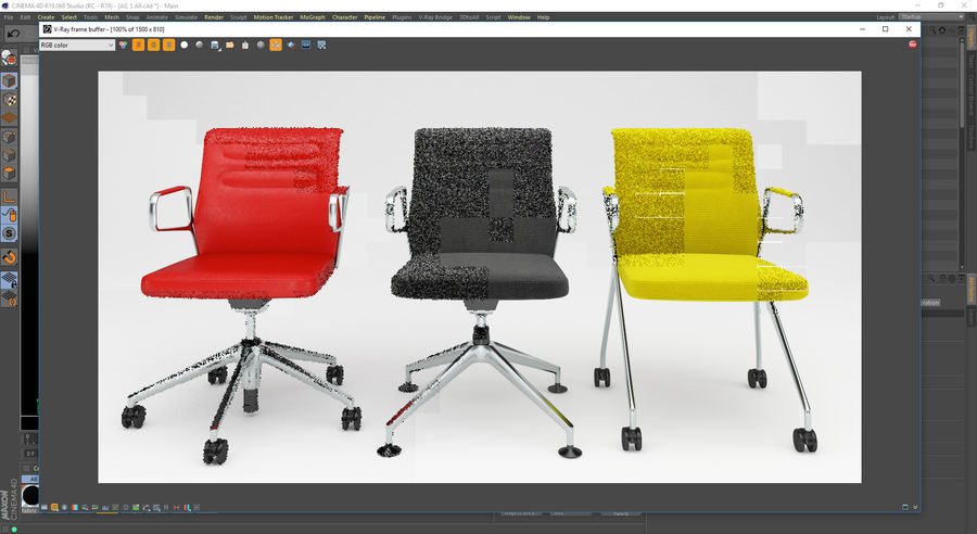 AC 5 Chair Studio - Meet - Swift royalty-free 3d model - Preview no. 16
