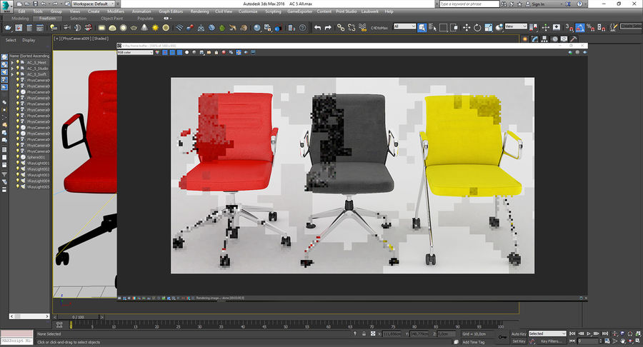 AC 5 Chair Studio - Meet - Swift royalty-free 3d model - Preview no. 13