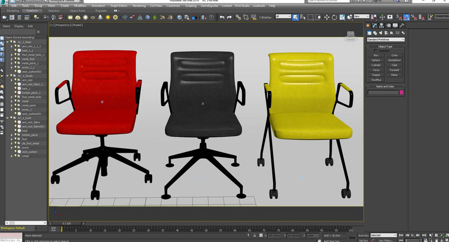 AC 5 Chair Studio - Meet - Swift royalty-free 3d model - Preview no. 14