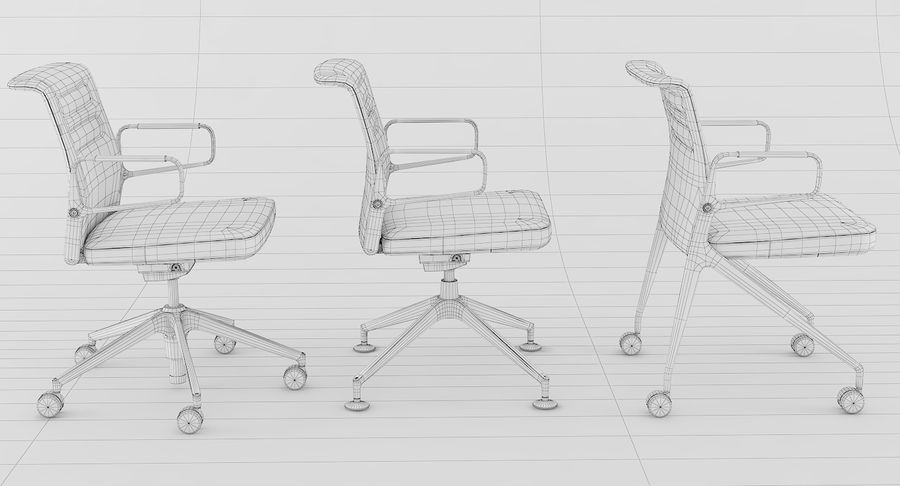 AC 5 Chair Studio - Meet - Swift royalty-free 3d model - Preview no. 20
