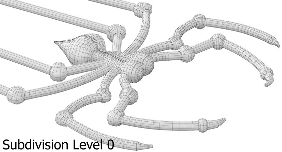 Spider royalty-free 3d model - Preview no. 12