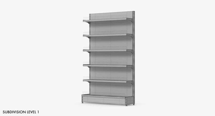Shelving royalty-free 3d model - Preview no. 34