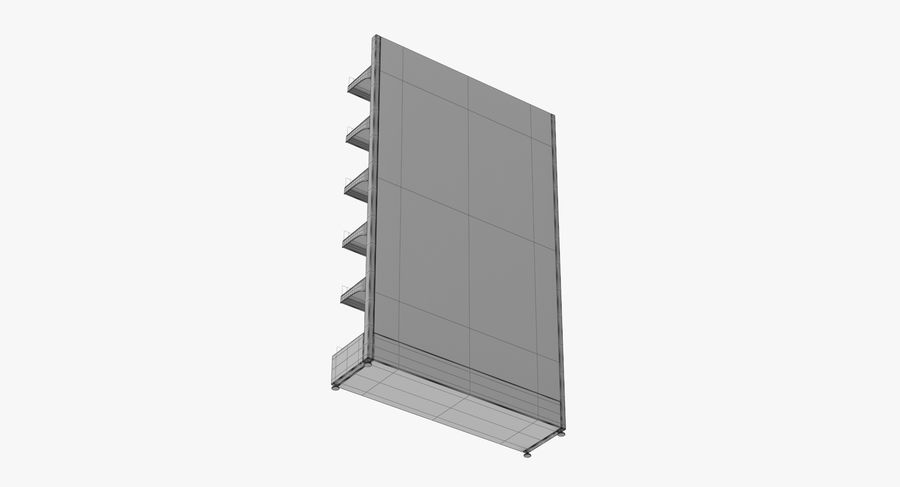 Shelving royalty-free 3d model - Preview no. 106