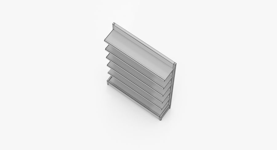 Shelving royalty-free 3d model - Preview no. 48
