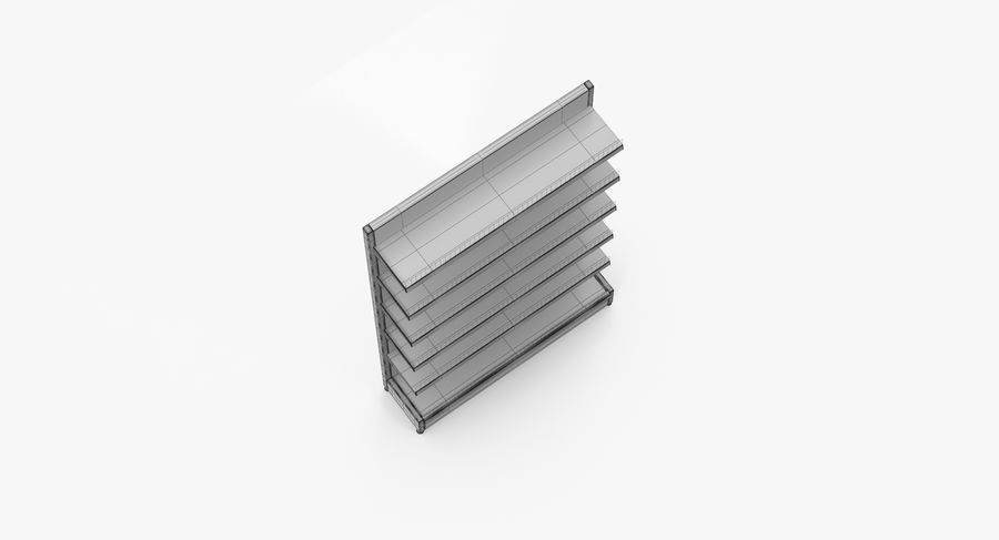 Shelving royalty-free 3d model - Preview no. 40