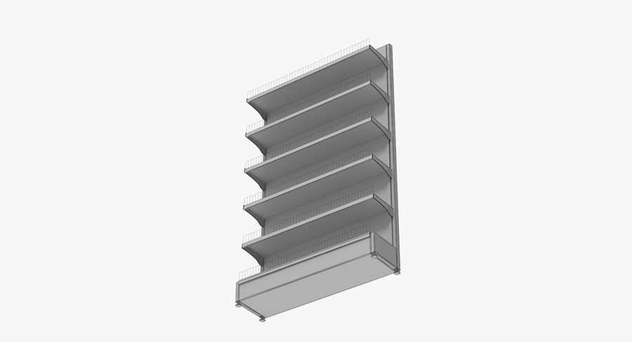 Shelving royalty-free 3d model - Preview no. 108
