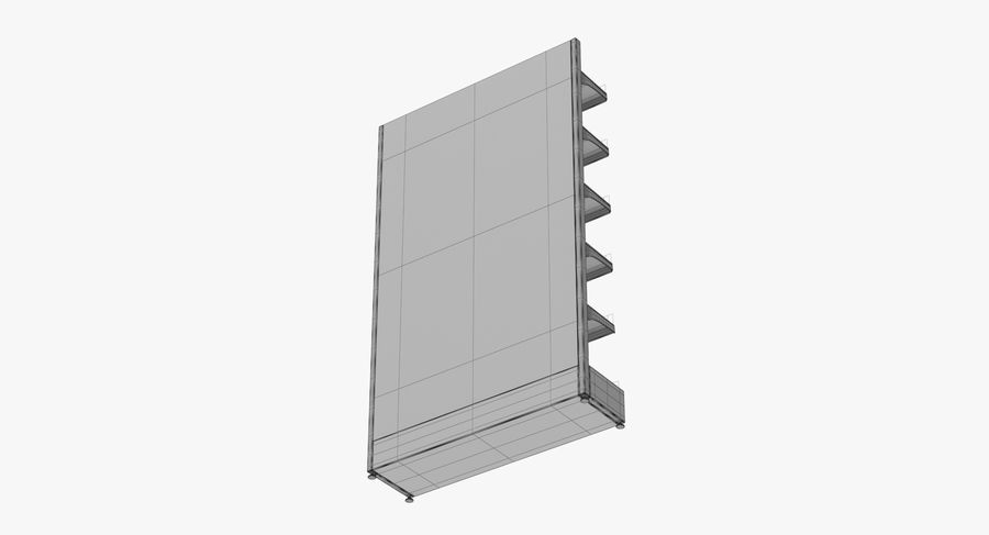 Shelving royalty-free 3d model - Preview no. 103