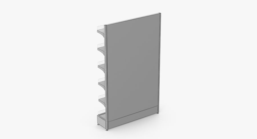 Shelving royalty-free 3d model - Preview no. 69