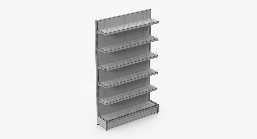 Shelving royalty-free 3d model - Preview no. 64