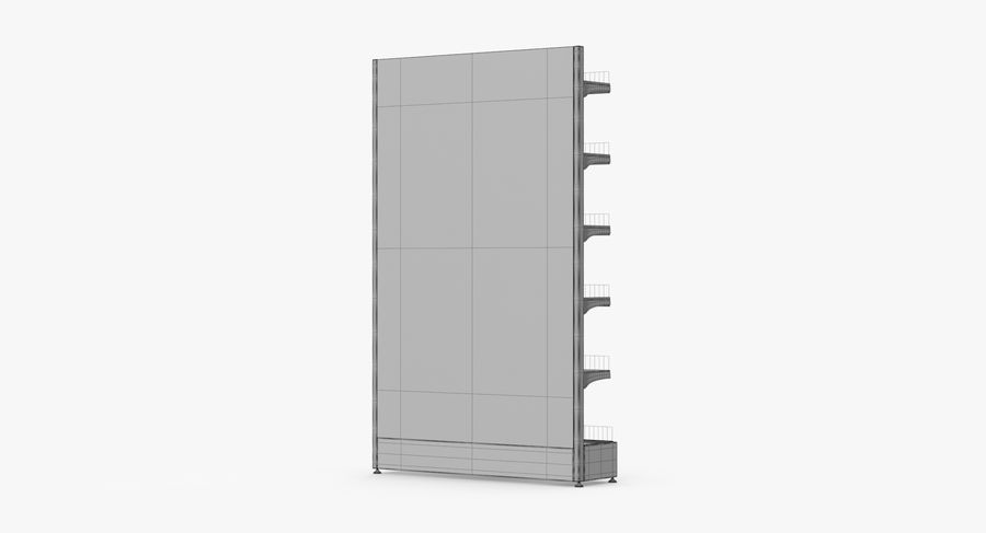 Shelving royalty-free 3d model - Preview no. 85