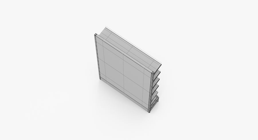 Shelving royalty-free 3d model - Preview no. 43
