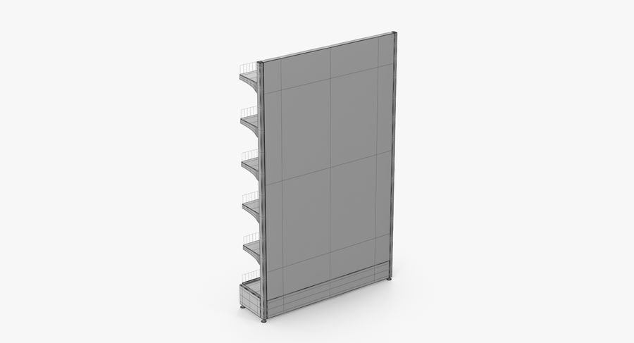 Shelving royalty-free 3d model - Preview no. 70