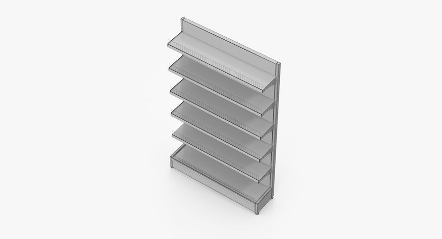 Shelving royalty-free 3d model - Preview no. 60