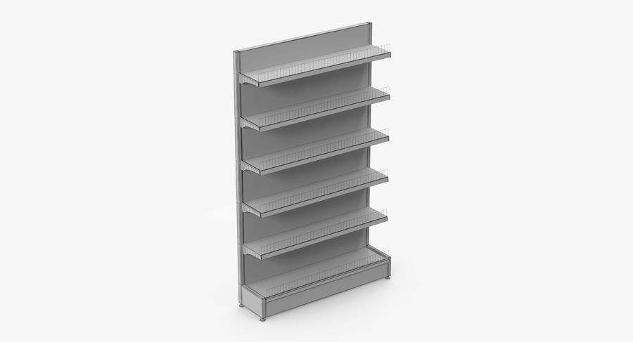 Shelving royalty-free 3d model - Preview no. 63