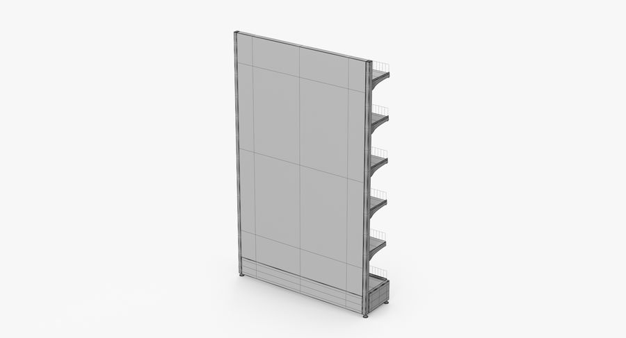 Shelving royalty-free 3d model - Preview no. 67