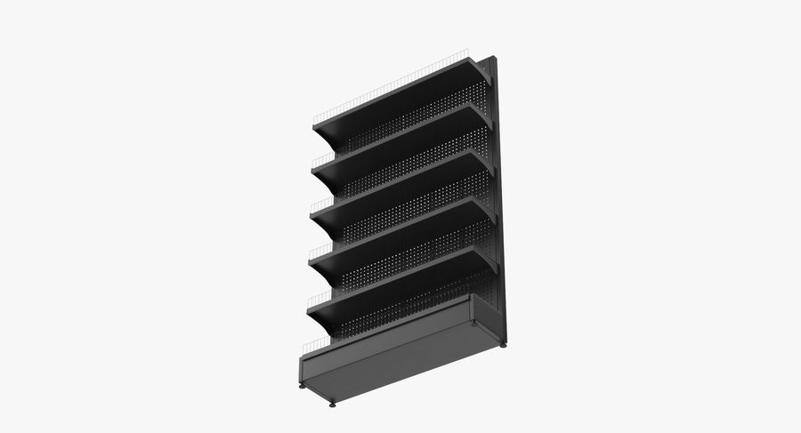Shelving royalty-free 3d model - Preview no. 26