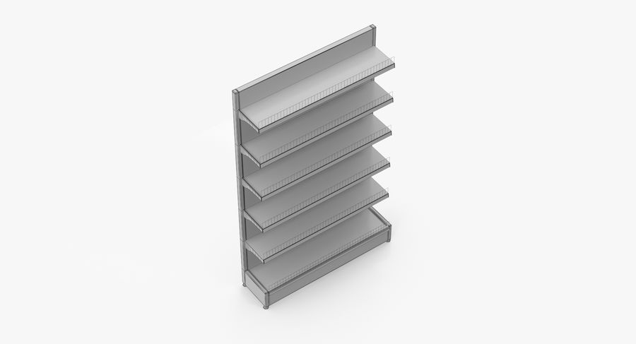 Shelving royalty-free 3d model - Preview no. 51