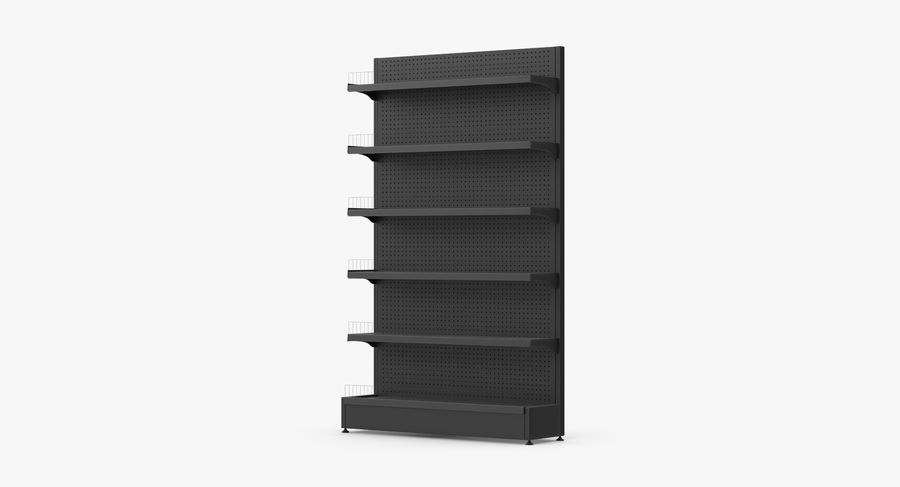 Shelving royalty-free 3d model - Preview no. 2