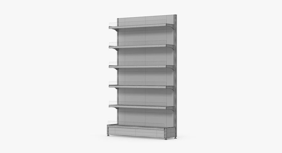Shelving royalty-free 3d model - Preview no. 97