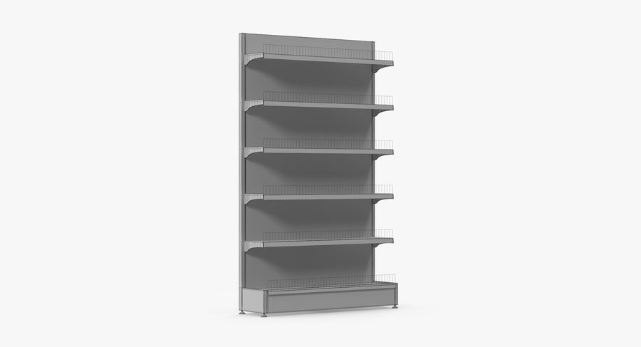 Shelving royalty-free 3d model - Preview no. 78
