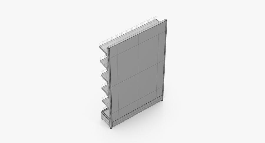 Shelving royalty-free 3d model - Preview no. 58
