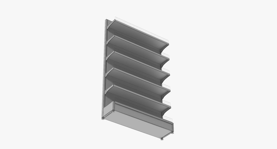 Shelving royalty-free 3d model - Preview no. 99