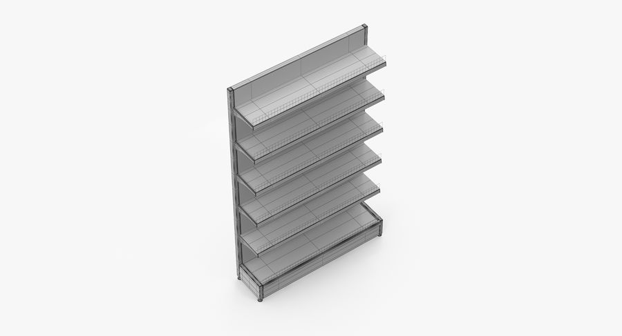 Shelving royalty-free 3d model - Preview no. 52