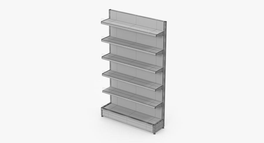 Shelving royalty-free 3d model - Preview no. 73