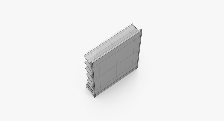 Shelving royalty-free 3d model - Preview no. 46
