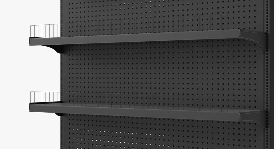Shelving royalty-free 3d model - Preview no. 31