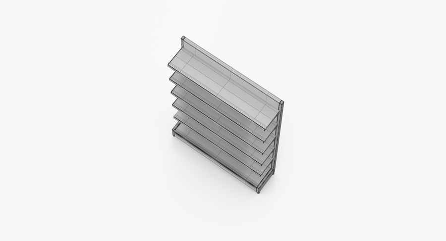 Shelving royalty-free 3d model - Preview no. 49