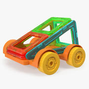 Magnetic Designer Toy Car 3D模型 3d model