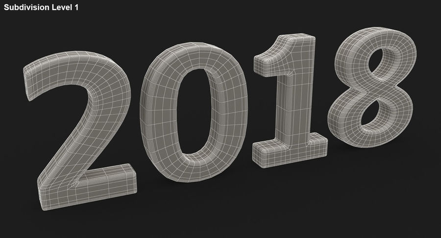 2018年新年 royalty-free 3d model - Preview no. 26