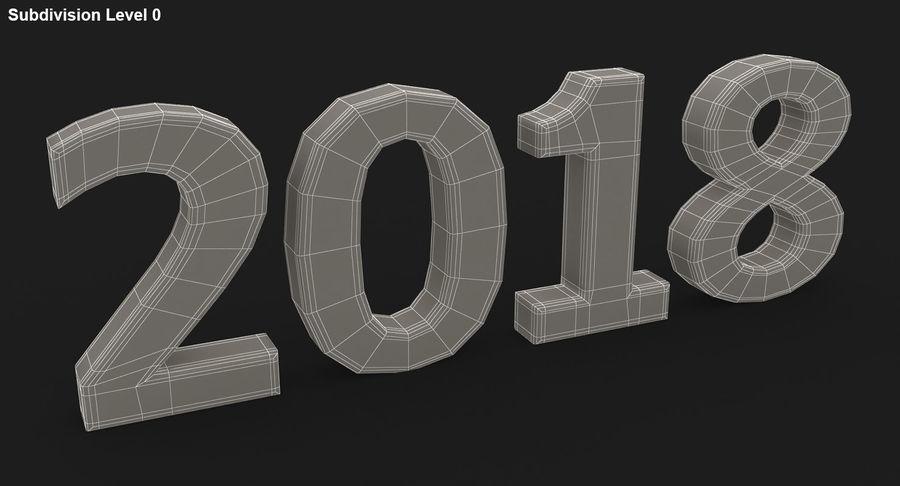 2018年新年 royalty-free 3d model - Preview no. 25