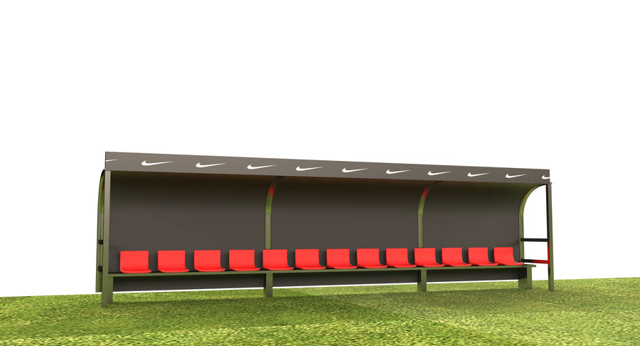 Soccer Field royalty-free 3d model - Preview no. 8