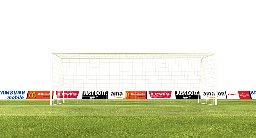 Soccer Field royalty-free 3d model - Preview no. 7
