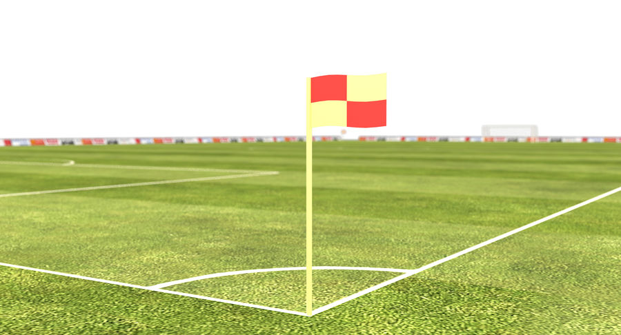 Soccer Field royalty-free 3d model - Preview no. 10