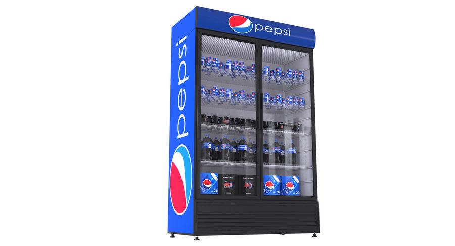 Pepsi Beverage Fridge royalty-free 3d model - Preview no. 12
