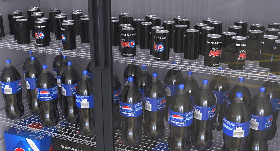 Pepsi Beverage Fridge royalty-free 3d model - Preview no. 7