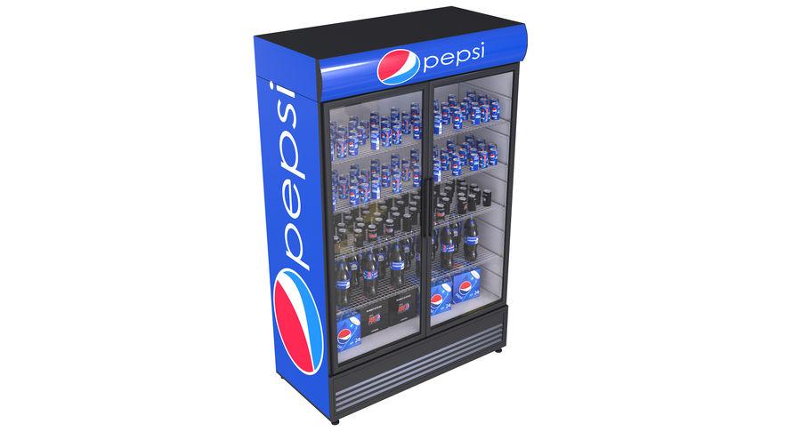 Pepsi Beverage Fridge royalty-free 3d model - Preview no. 2