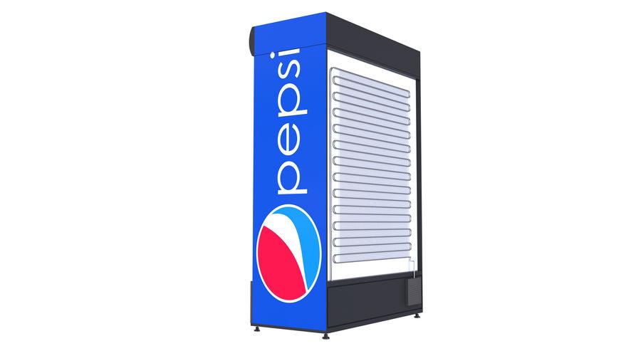 Pepsi Beverage Fridge royalty-free 3d model - Preview no. 4