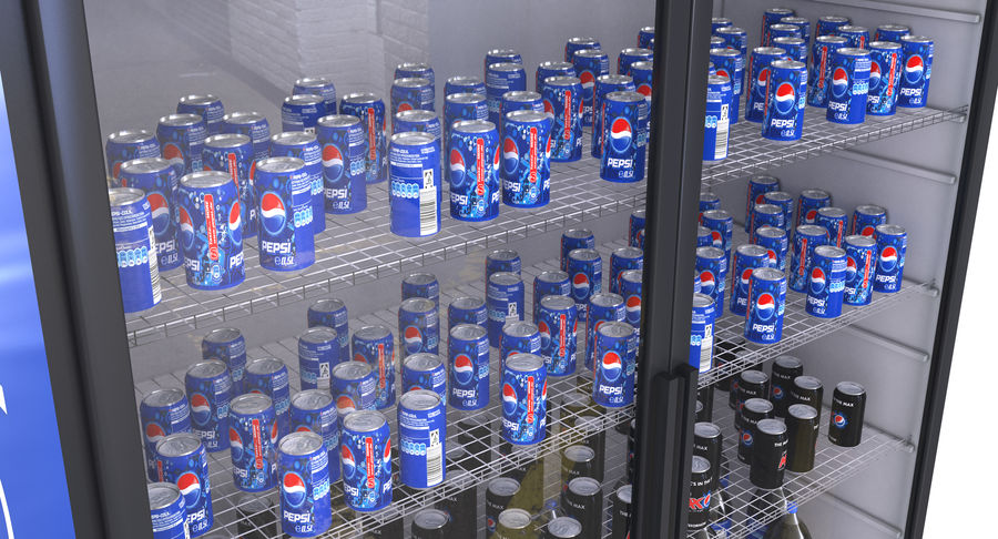 Pepsi Beverage Fridge royalty-free 3d model - Preview no. 5