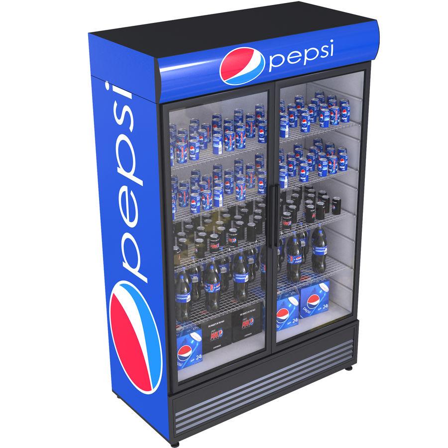 Pepsi Beverage Fridge royalty-free 3d model - Preview no. 1